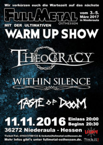Theocracy, Within Silence und Taste Of Doom in Niederjossa