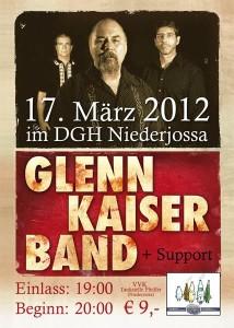 Glenn Kaiser Band Flyer 2012